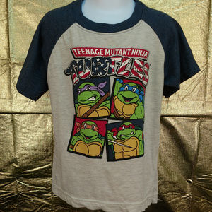 NWT TMNT Teenage Mutant Ninja Turtles boys t-shirt size 4//5 Minecraft